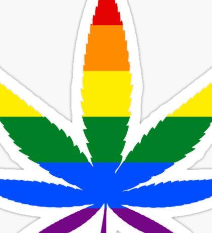 LGBT Weed Sticker