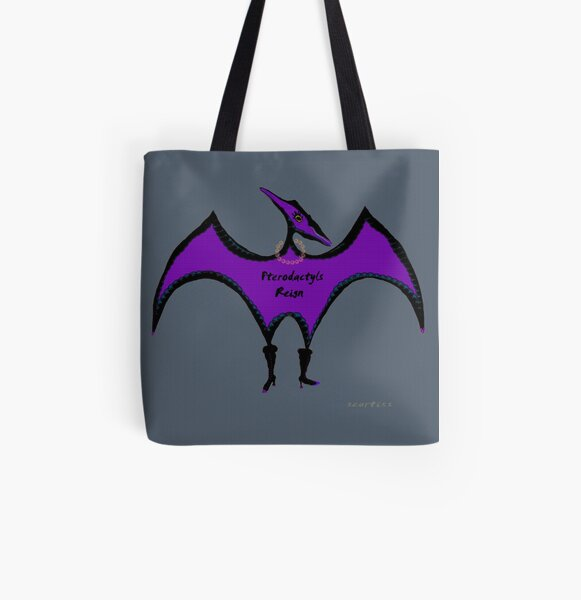 Pterodactyls Reign All Over Print Tote Bag