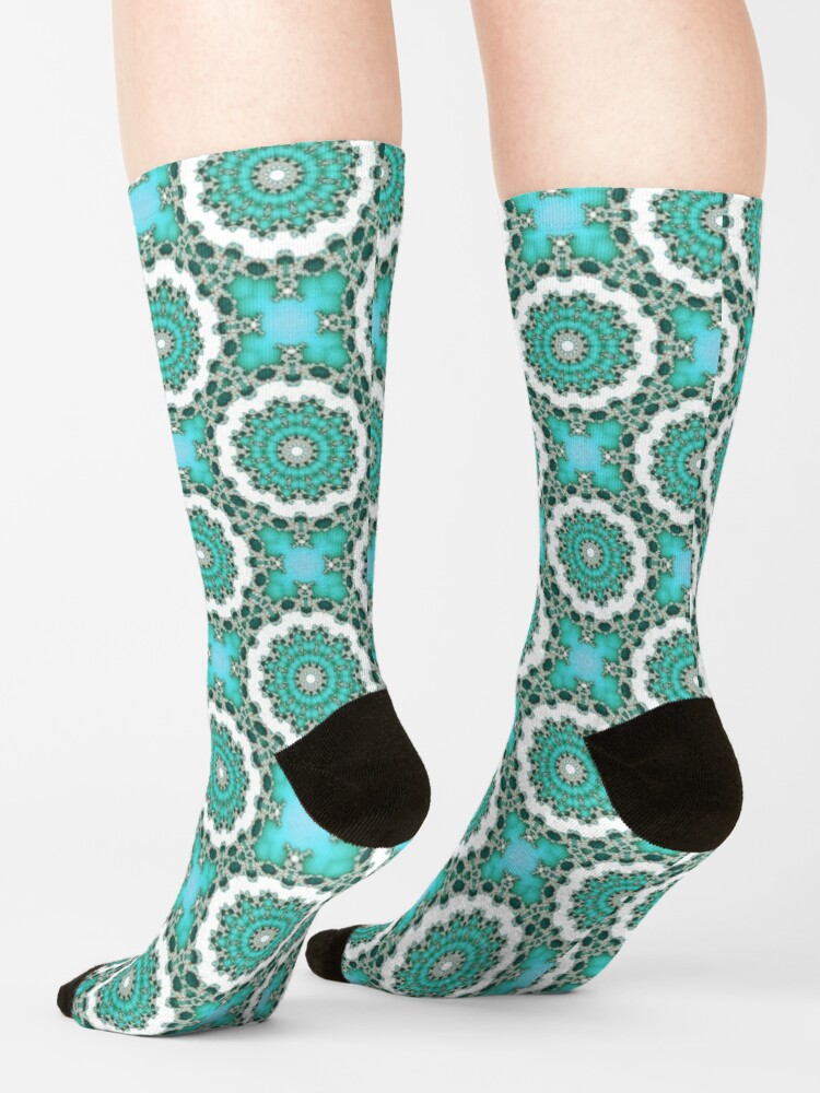 Alternate view of Turquoise Mandalas Socks