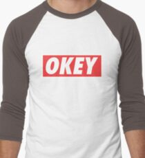 OKEY Men's Baseball ¾ T-Shirt
