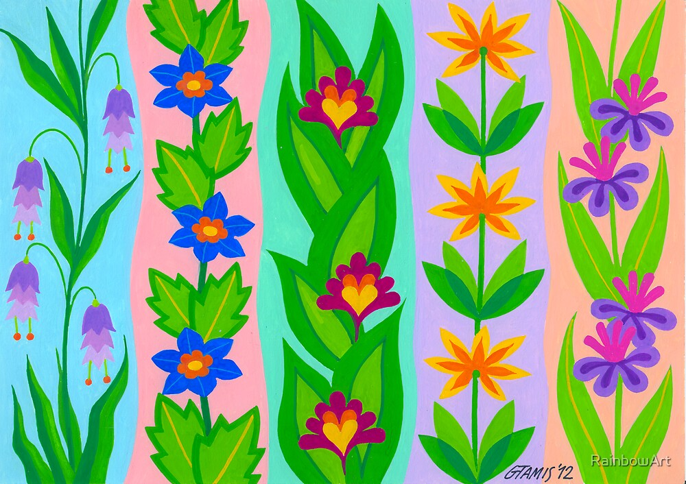 FLOWER SPLENDOUR - AQUAREL by RainbowArt