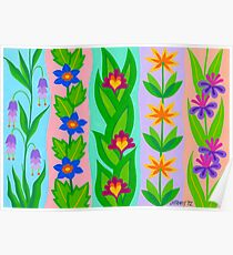FLOWER SPLENDOUR - AQUAREL Poster