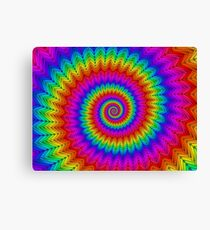 Psychedelic Rainbow Spiral  Canvas Print
