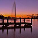Waterways sunset by Karina Walther