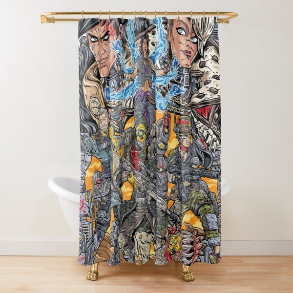 Borderlands 3  FL4K Beastmaster Amara Siren Moze Gunner Zane Operative Troy and Tyreen Calypso Shower Curtain