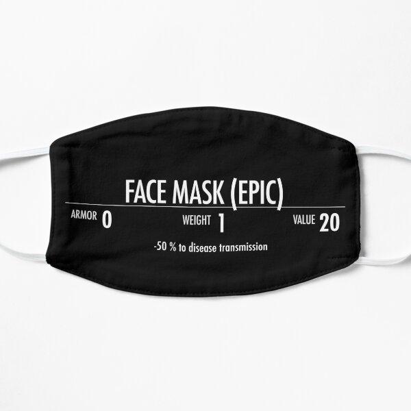 Epic Skyrim face mask Flat Mask