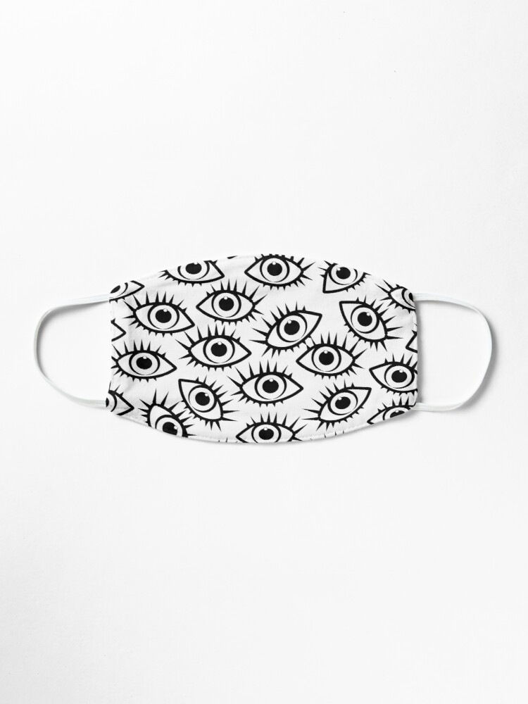 Alternate view of Eye Ball Pattern in Black and White Mask