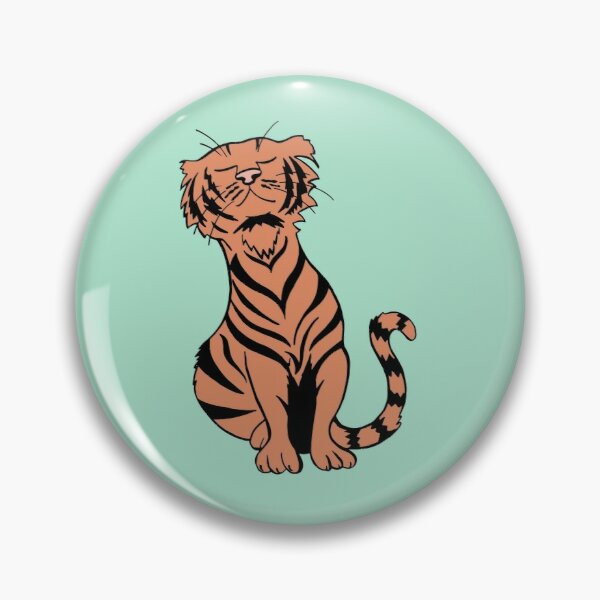 Happy, Cozy Tiger Has All Kinds of Cute Stripes Pin