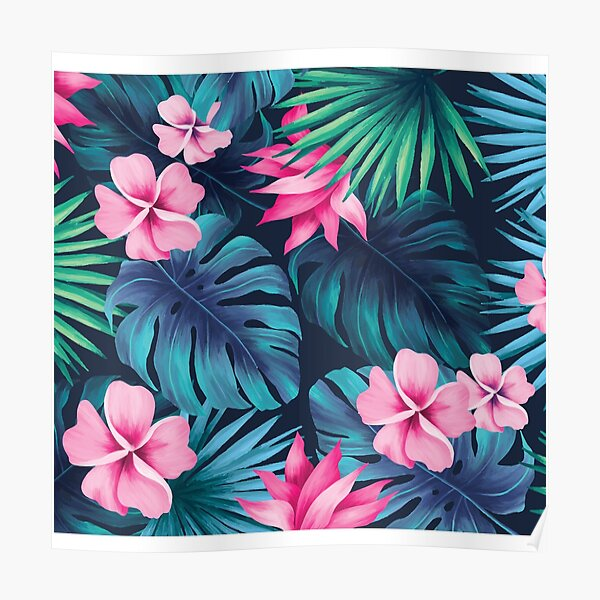 Tropical Floral Poster