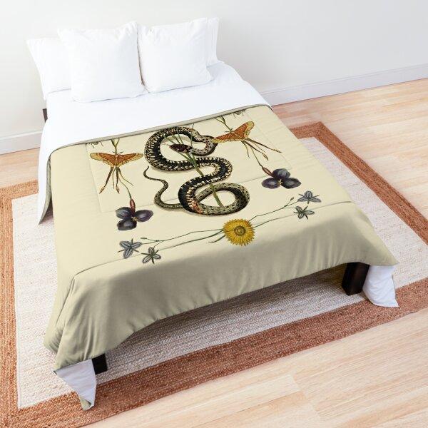 Snake, Swallowtail, & Wildflowers III Comforter