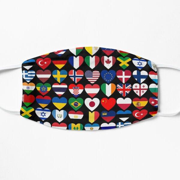 Drapeaux des pays du monde, don international Masque sans plis