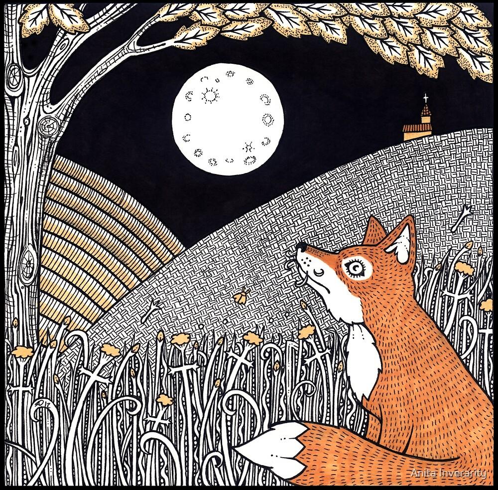 Full Moon Fox by Anita Inverarity