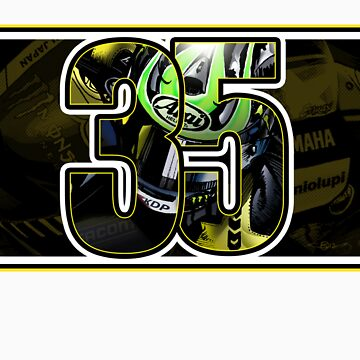 Cal Crutchlow - Monster Tech 3 Yamaha T-Shirt by quigonjim