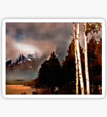 Tetons Storm Sticker