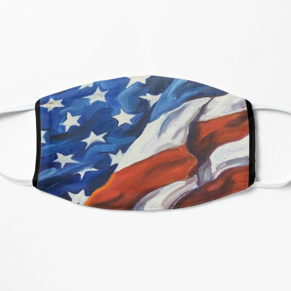 American Flag - Country First Flat Mask