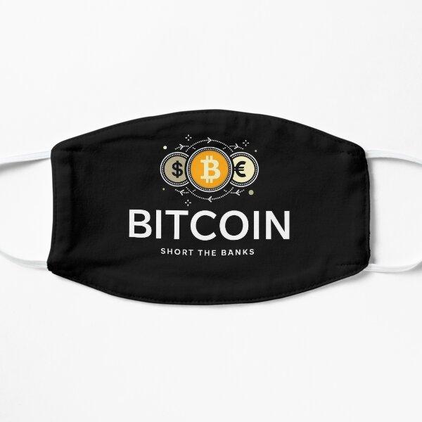Schließen Sie die Banken - kaufen Sie Bitcoin Flache Maske