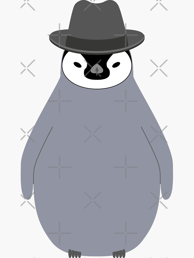 NDVH Baby Penguin Wearing a Homburg by nikhorne