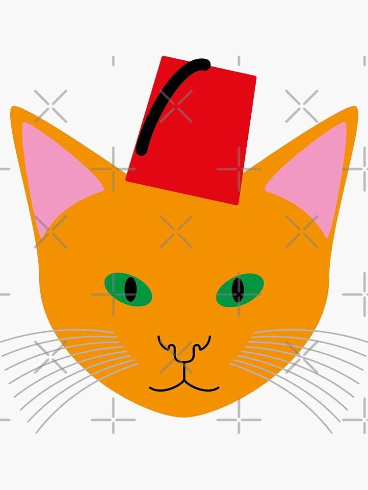 NDVH Cat Wearing a Fez by nikhorne