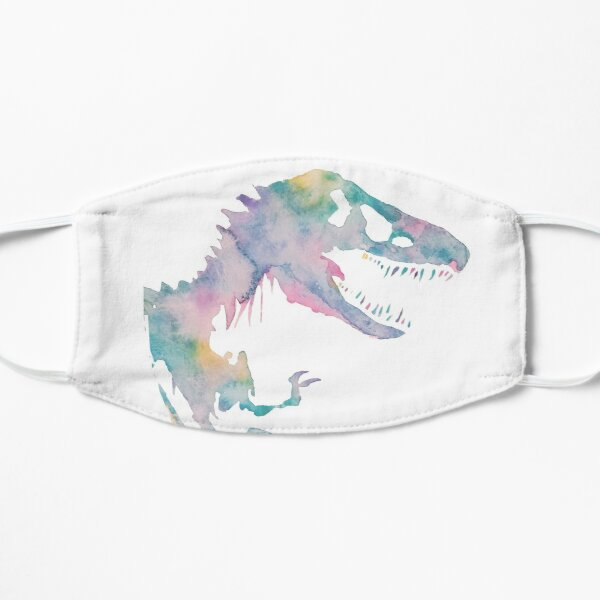 Watercolor Jurassic (white)  Mask
