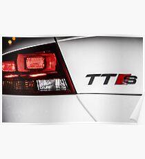 Audi TTS Rear Emblem Poster