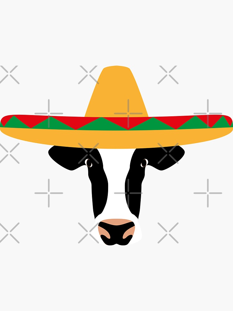 NDVH Cow Wearing a Sombrero by nikhorne