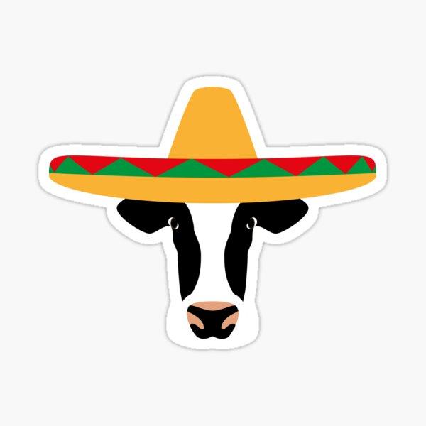 NDVH Cow Wearing a Sombrero Sticker