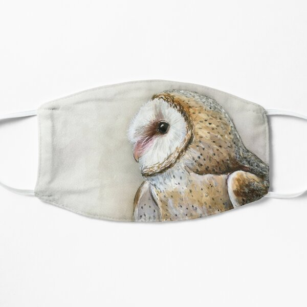 Barn Owl Watercolor Mask