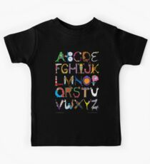 Children's Alphabet (black background) Kids Clothes