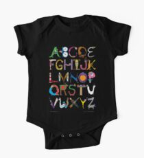 Children's Alphabet (black background) Kids Clothes