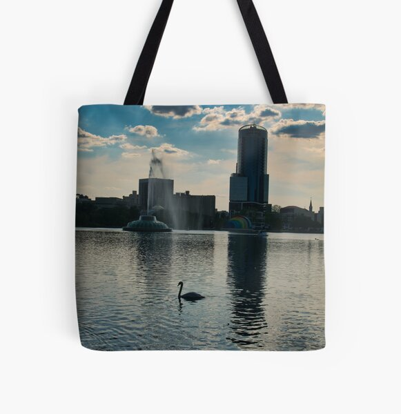 Sunset at the Lake All Over Print Tote Bag