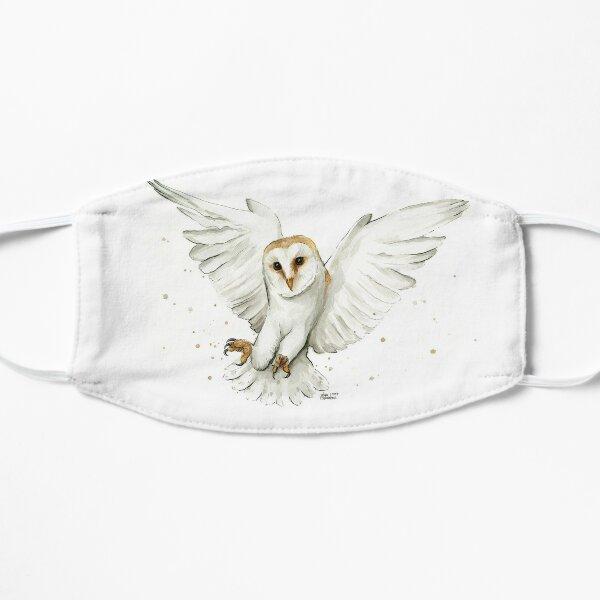 Barn Owl Flying Watercolor Mask