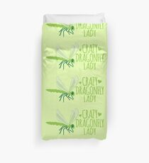 Crazy Dragonfly lady (Cute) Duvet Cover