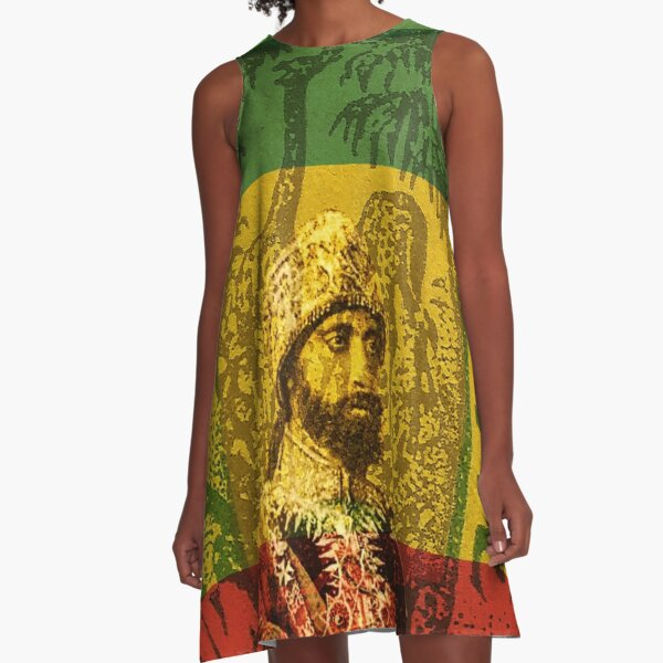 Haile Selassie Emperor of Ethiopia A-Line Dress