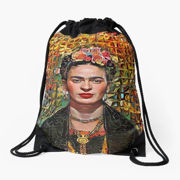 Shiny wall Frida Drawstring Bag