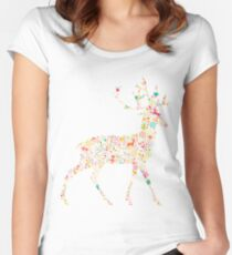 Christmas Reindeer 4 Women's Fitted Scoop T-Shirt