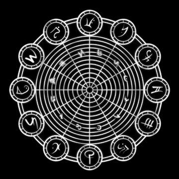 Mystische Kreise - ZODIAC House von NoirGraphic
