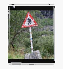 Warning! Crossing Trolls iPad Case/Skin