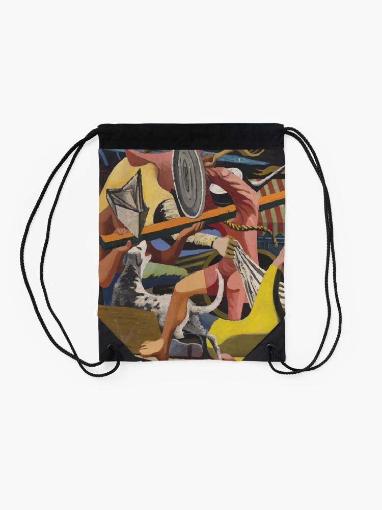 Alternate view of Philip Guston | Gladiators Drawstring Bag