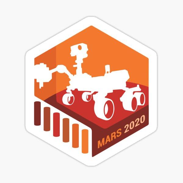 Mars 2020 Rover Insignia Sticker Sticker