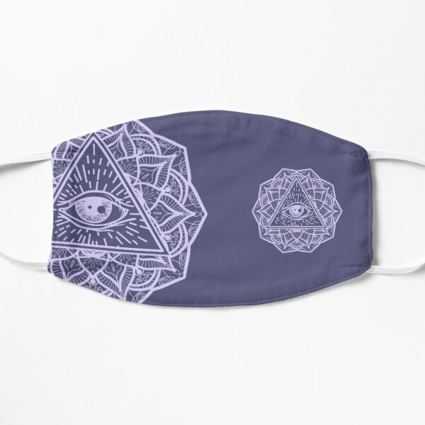 Mandala Seeing Eye Flower Mask lil/dlav  Mask