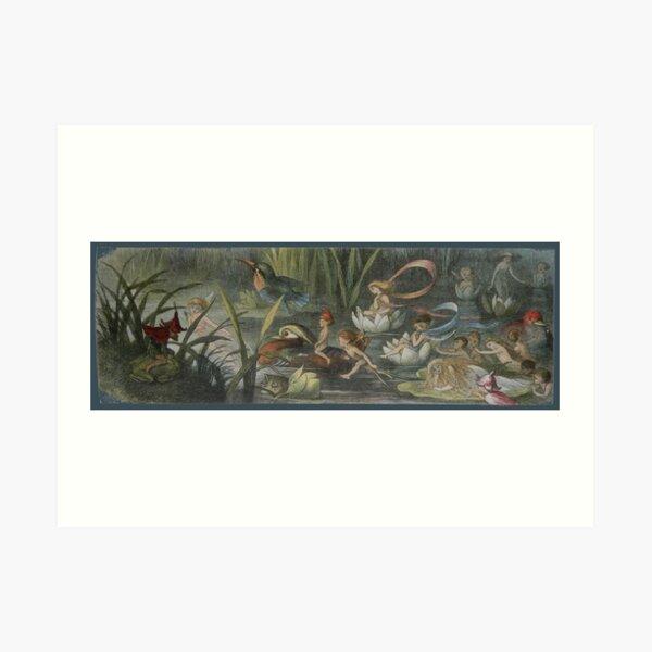 Fairies in the Water Lilies - Richard Doyle Art Print
