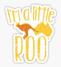 I'm a little ROO cute kangaroo with Australian map distressed version Sticker
