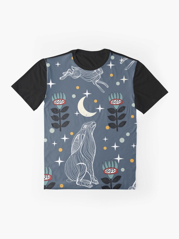 Alternate view of Hare Moon Graphic T-Shirt