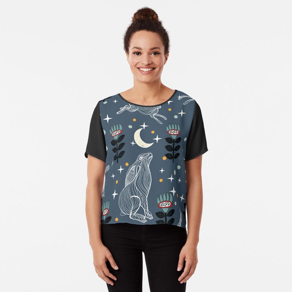 Hare Moon Chiffon Top
