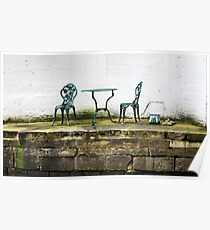 Empty Table And Chairs Poster