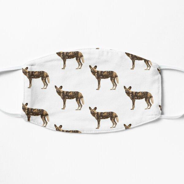 Wildhund Liebhaber T-Shirt & Aufkleber Flache Maske