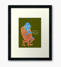 The Demon Storyteller Framed Print