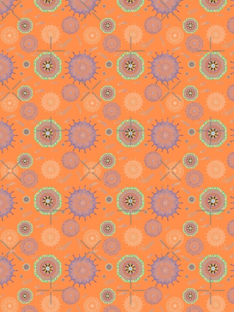 Boho Medallions on Orange by Stasiajahadi