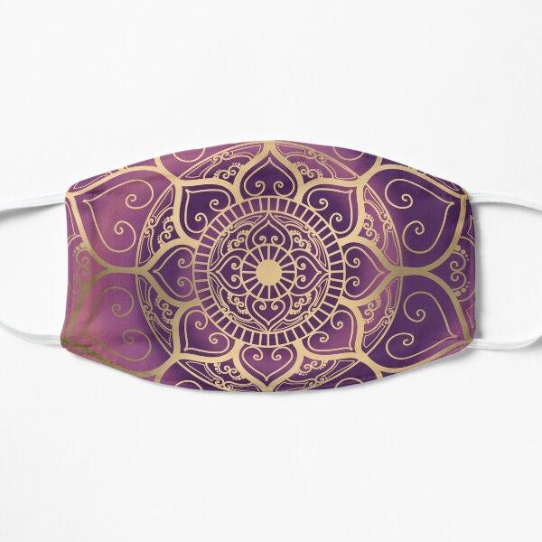Cosmic Gold Mandala Flat Mask