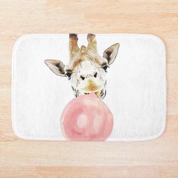 Pink Bubblegum Giraffe  Bath Mat